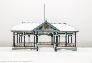 Gazebo in snow storm